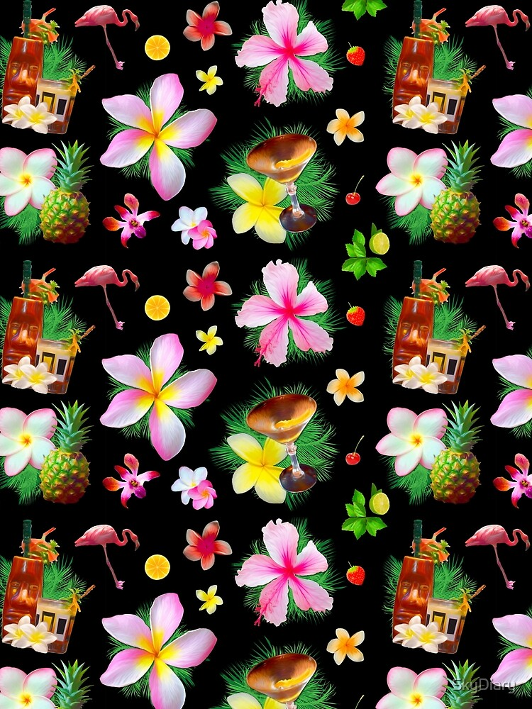 Tiki cocktails tropical aloha fun by SkyDiary