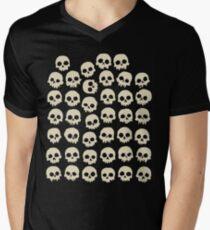 Skulls Men's V-Neck T-Shirt