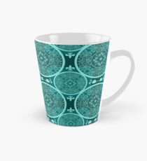 Turquoise abstract  lace pattern texture Tall Mug