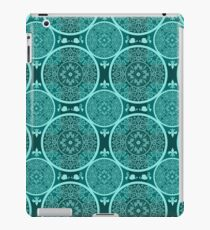 Turquoise abstract  lace pattern texture iPad Case/Skin