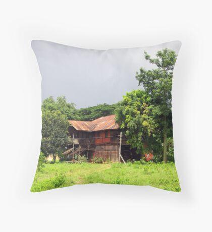 George Orwell's home in Katha, Burma Throw Pillow