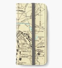 Civil War Maps 0455 Gettysburg battlefield Inverted iPhone Flip-Case/Hülle/Klebefolie