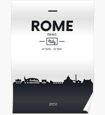 Skyline der Stadt Rom Poster