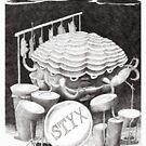 Styx the drumming sea monster by Andrea England