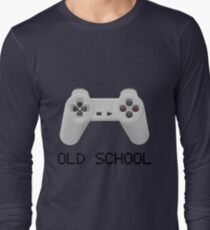 Old school - PlayStation (one!) Controller Long Sleeve T-Shirt