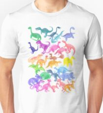 Roarsome Rainbow Dinosaur Alphabet Unisex T-Shirt