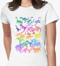 Roarsome Rainbow Dinosaur Alphabet Women's Fitted T-Shirt