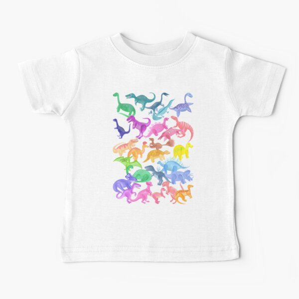 Roarsome Rainbow Dinosaur Alphabet Baby T-Shirt