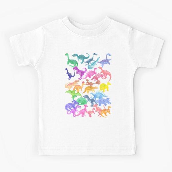 Roarsome Rainbow Dinosaur Alphabet Kids T-Shirt