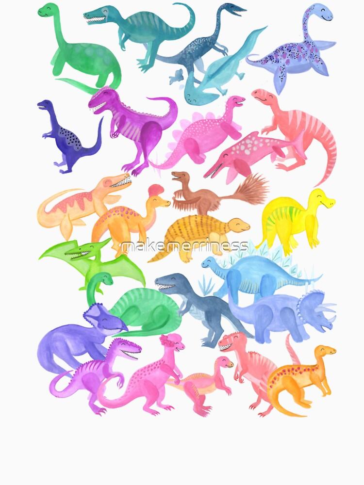 Roarsome Rainbow Dinosaur Alphabet by makemerriness