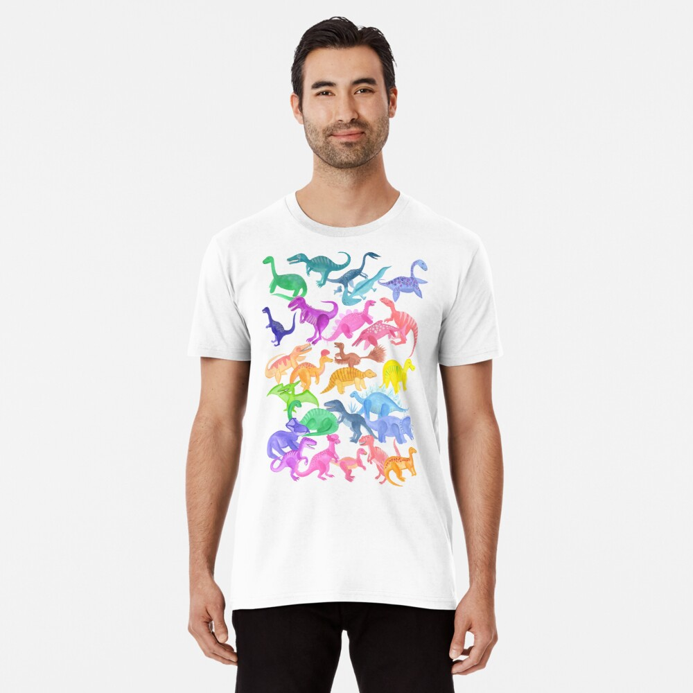 Roarsome Rainbow Dinosaur Alphabet Premium T-Shirt