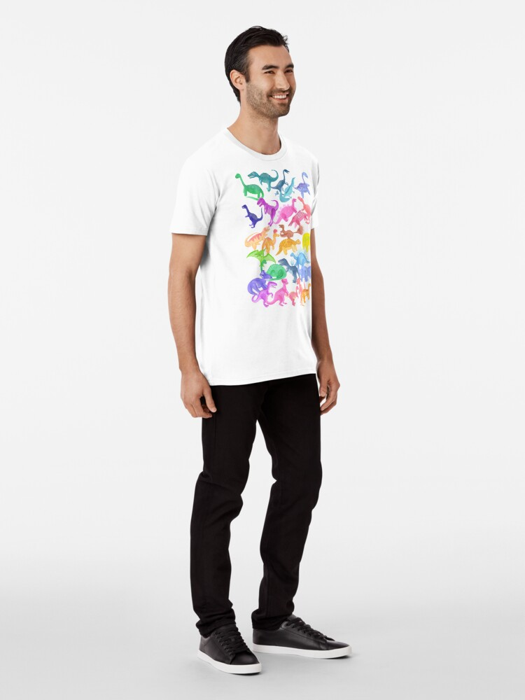 Alternate view of Roarsome Rainbow Dinosaur Alphabet Premium T-Shirt