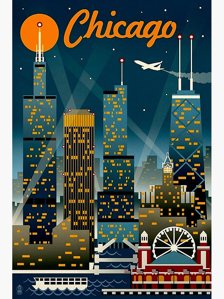 """""""CHICAGO"""" Vintage Travel Advertising Print by posterbobs"""