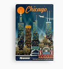 """CHICAGO"" Vintage Reise Werbung Print Metallbild"