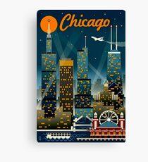 """CHICAGO"" Vintage Travel Advertising Print Canvas Print"