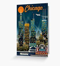 """""""CHICAGO"""" Vintage Reise Werbung Print Grußkarte"""