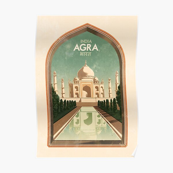 Travel Posters - Agra India Poster