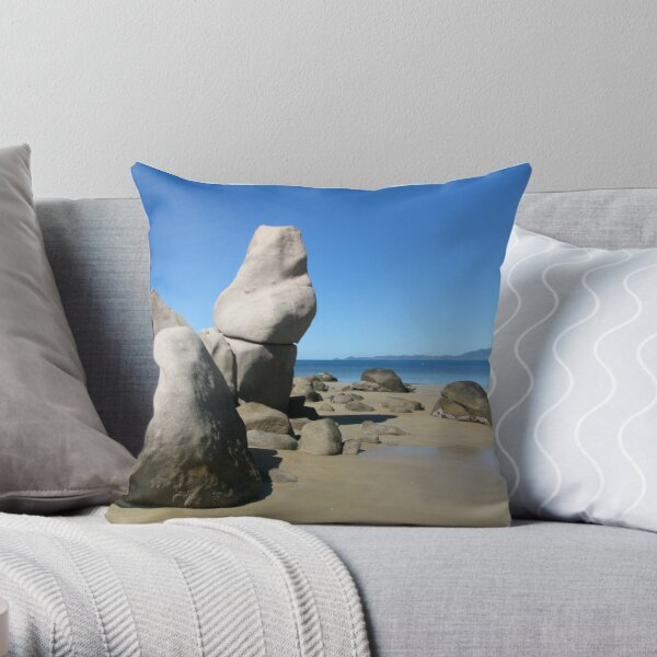 The Old Lady Rock Throw Pillow