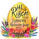 He is Risen watercolor by Jeri Stunkard