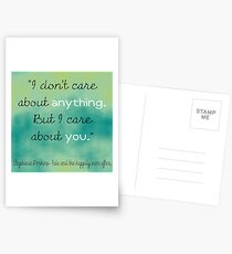I care about you Postcards