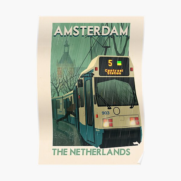 Travel Posters - Amsterdam The Netherlands Poster