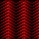 Rotes und schwarzes geometrisches Design von Irisangel
