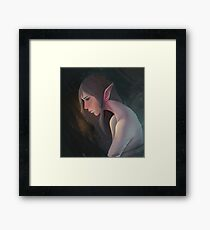 Elf in Thought Framed Print