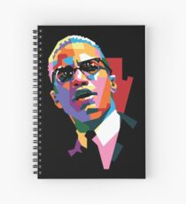 Malcolm X Spiral Notebook