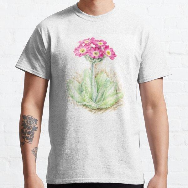Primrose pink primula scotica Classic T-Shirt