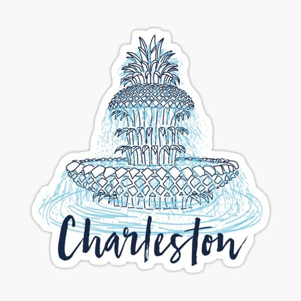Charleston Pineapple Fountain Sticker