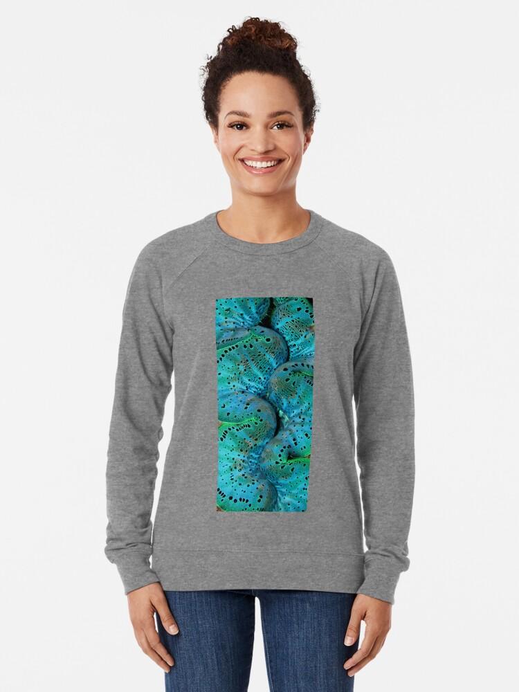 Alternate view of Sinusoidal in Blue Lightweight Sweatshirt