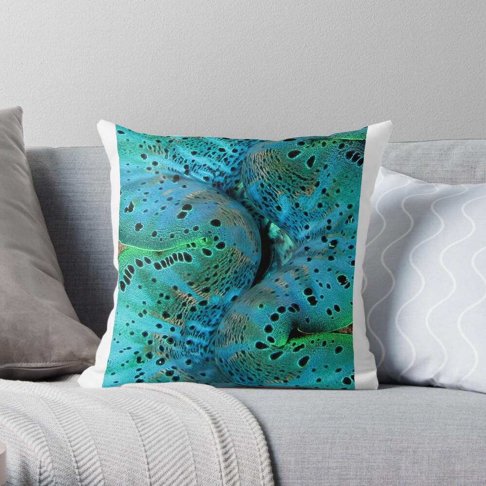 Sinusoidal in Blue Throw Pillow