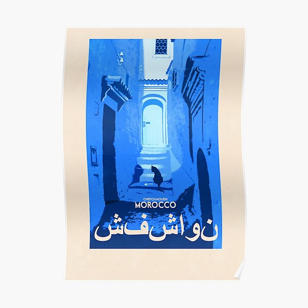 Travel Posters - Chefchaouen Morocco Poster