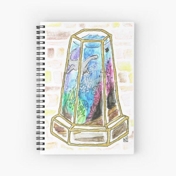 Ocean Fantasy Terrarium with Loch Ness Monster Spiral Notebook