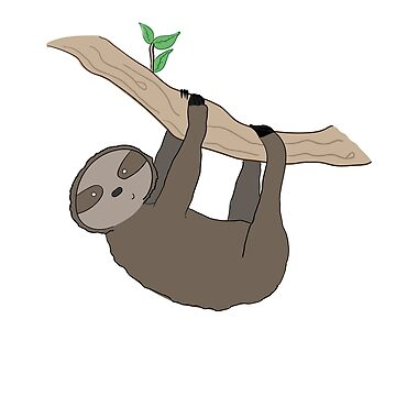 Sloth Illustration  by ThePrintPuffin