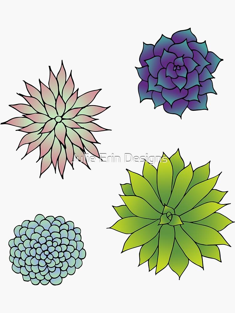 Succulent Garden Pattern by julieerindesign