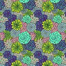 Succulent Pattern by julieerindesign