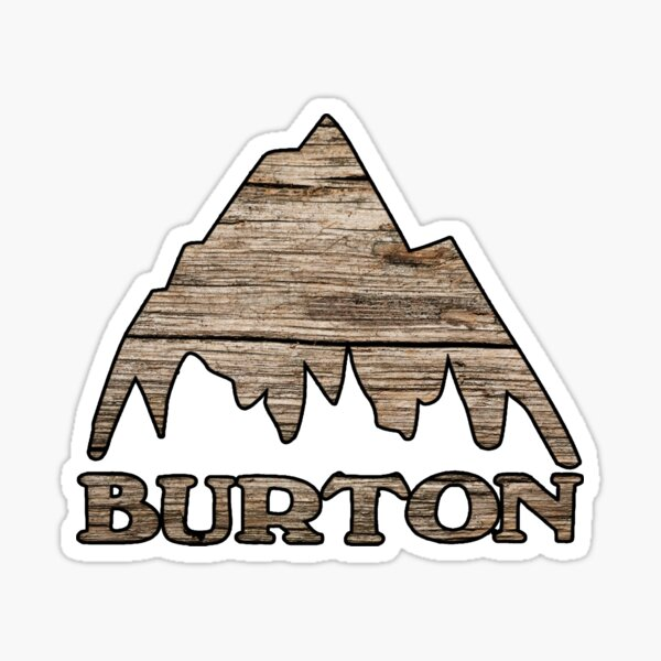 Burton wood look  Sticker