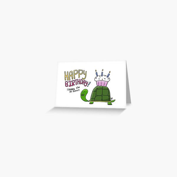 Happy Birthday from a Turtle Greeting Card