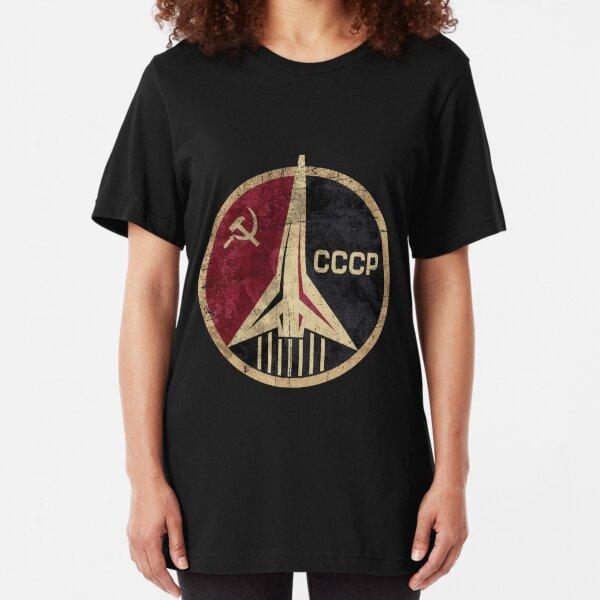 Russian Space Program Slim Fit T-Shirt