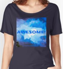 Awesome Blue Women's Relaxed Fit T-Shirt