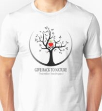 Give Back to Nature Logo - For Light Backgrounds Unisex T-Shirt