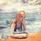 Mermaid Daydreamer On The Beach by 2HivelysArt