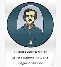 Edgar Allan Poe - The Cat Quote Poster