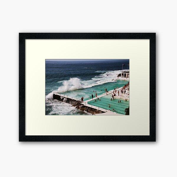 The Icebergs At Bondi Beach Framed Art Print