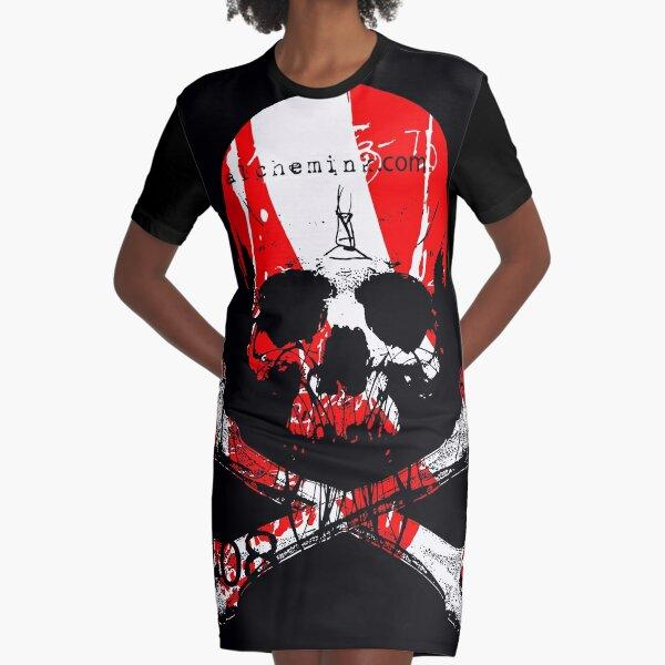 RED SKULL - ALCHEMINK Graphic T-Shirt Dress