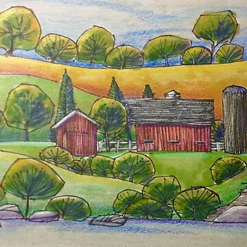 Country Barn Scene by Russ Fagle by magichammer