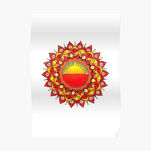 Sunrise-Sunset Mandala Poster