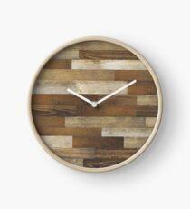 Wood Planks Clock