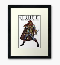 Dungeons and Dragons - the thief Framed Print